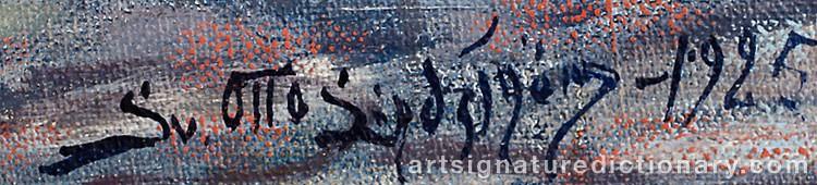 Signature by Sven Otto LINDSTRÖM