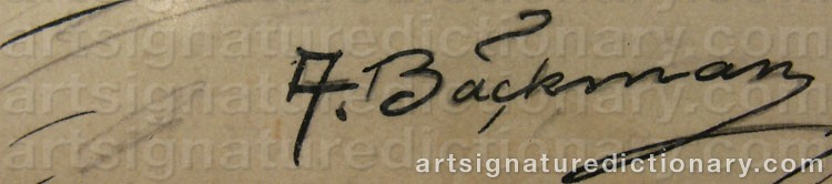 Signature by Axel BÄCKMAN