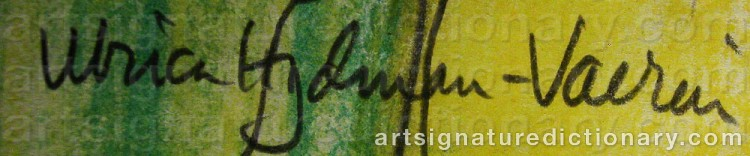 Signature by Ulrica HYDMAN-VALLIEN