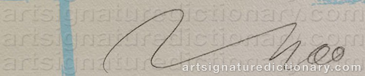 Signature by Jörg IMMENDORFF