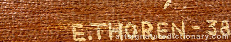 Signature by Esaias THORÉN