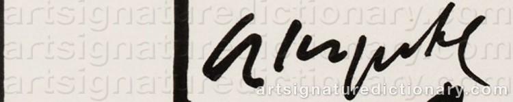 Signature by Arthur KÖPCKE