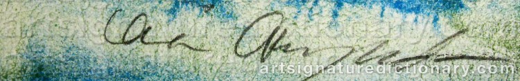 Signature by Lena CRONQVIST