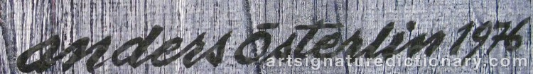 Signature by Anders ÖSTERLIN