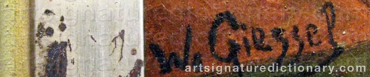 Signature by F. Wilhelm GIESSEL