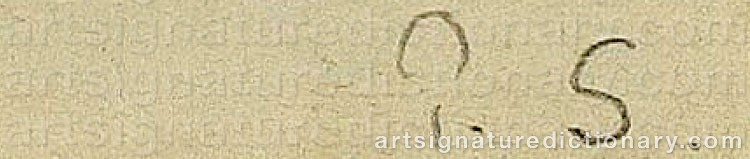 Signature by Paul SIGNAC