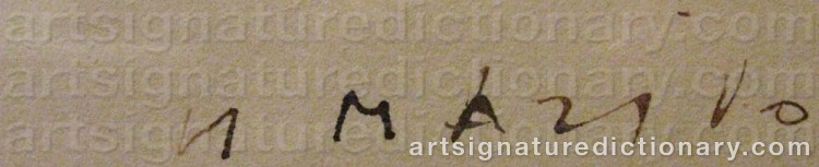 Signature by Marino MARINI