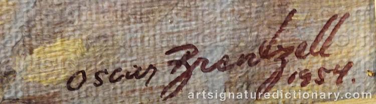 Signature by Oscar BRENTZELL