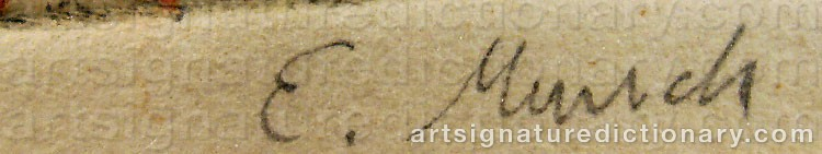 Forged signature of Edvard MUNCH