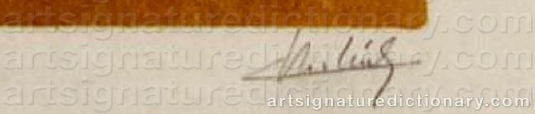 Signature by Claude VERLINDE