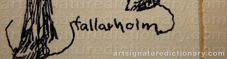 Signature by Uno STALLARHOLM