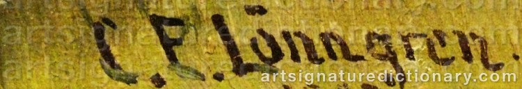 Signature by Carl Ewald LÖNNGREN