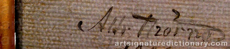 Signature by Alfred THÖRNE