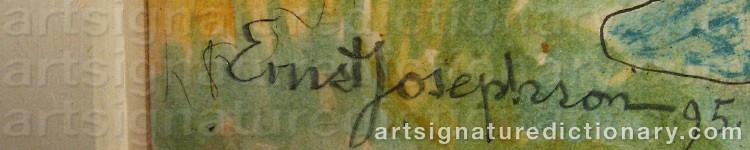 Signature by Ernst JOSEPHSON