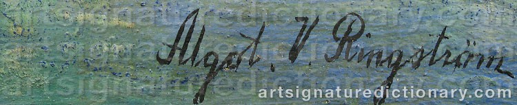 Signature by Algot RINGSTRÖM