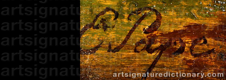 Signature by Eduard Friedrich PAPE