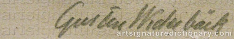 Signature by Gusten WIDERBÄCK