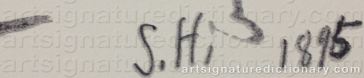 Signature by Sven HEDIN