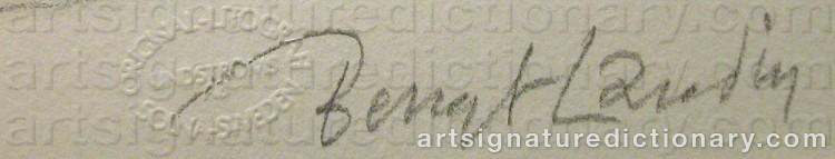 Signature by Bengt LANDIN