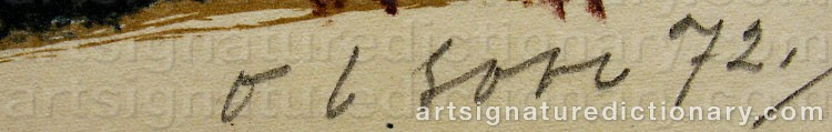 Signature by Ove OLSON