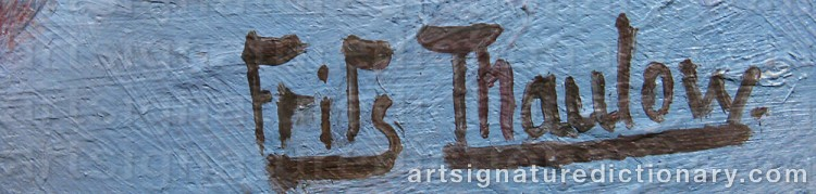 Forged signature of Frits THAULOW
