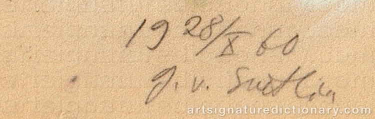 Signature by Georges Von SWETLIK