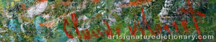 Signature by Claude MONET