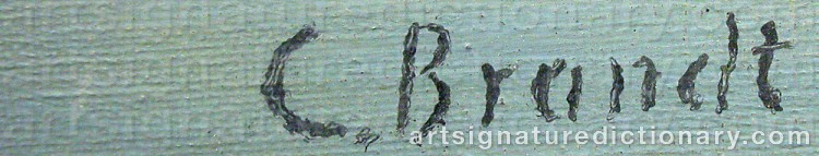 Forged signature of Carl BRANDT