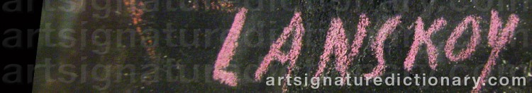 Signature by André LANSKOY
