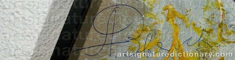 Signature by Anatolii Timofeevich 'Az' ZVEREV