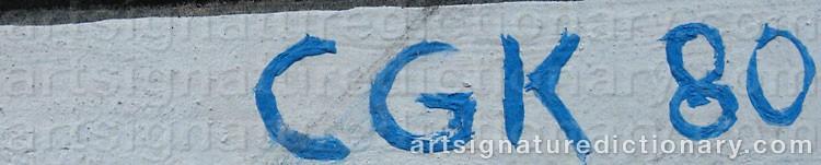 Signature by Göran C. 'Cgk' KARLSSON
