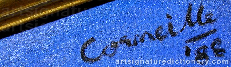 Forged signature of Cornelis Guillaum Corneille Van 'Corneille' BEVERLOO