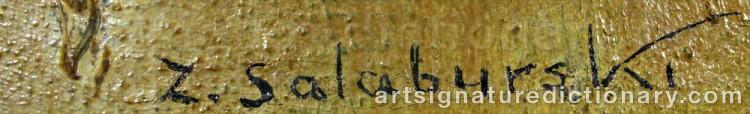 Signature by Zdzislaw SALABURSKI