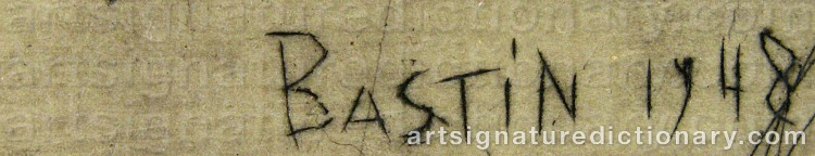 Signature by Louis BASTIN