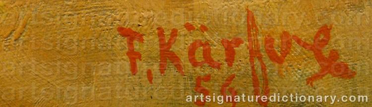 Signature by Fritz KÄRFVE