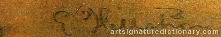 Signature by Eric HALLSTRÖM