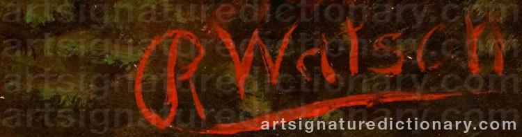 Signature by Robert WATSON