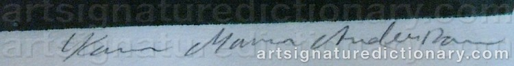 Signature by Karin 'Mamma' ANDERSSON