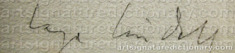Signature by Lage LINDELL