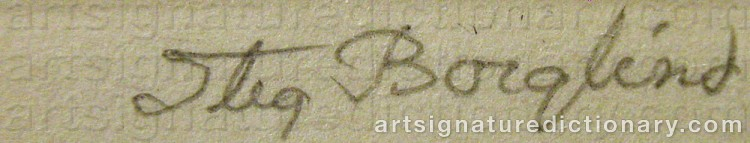Signature by Stig BORGLIND