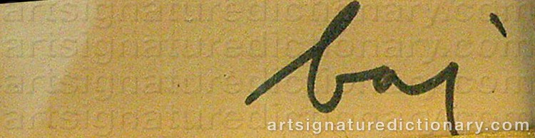 Signature by Enrico BAJ