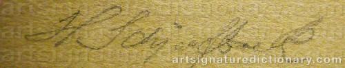 Signature by: SCHJERFBECK, Helene