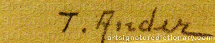 Signature by Ture ANDER