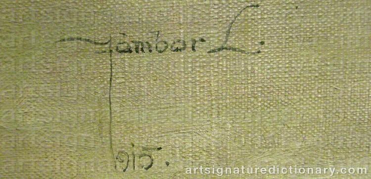 Signature by Louis JAMBOR
