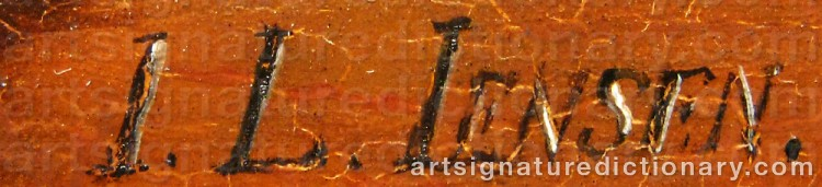 Signature by Johan Laurentz JENSEN