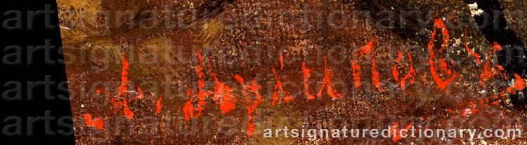 Signature by Abram Efimovich ARKHIPOV