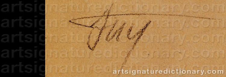 Signature by Vladimir Evgrafovich TATLIN