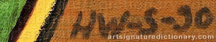 Signature by Hans Valter SUNDBERG