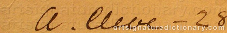 Signature by Agnes CLEVE