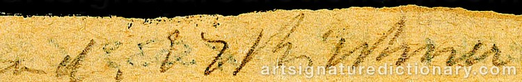 Signature by Ernst Ludwig KIRCHNER
